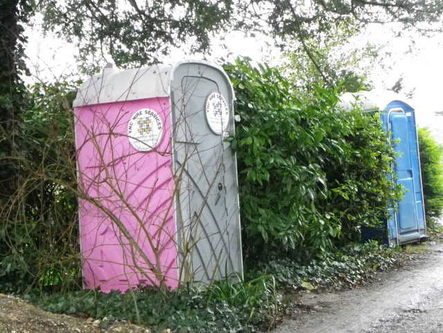 Portable loos, Litton Cheney
