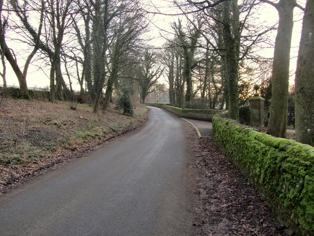 Road Outside Lawkland Hall