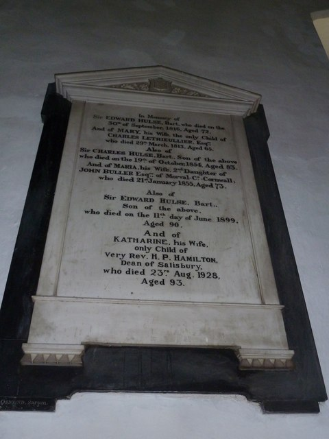 St Mary's Church, Breamore- memorial (d)