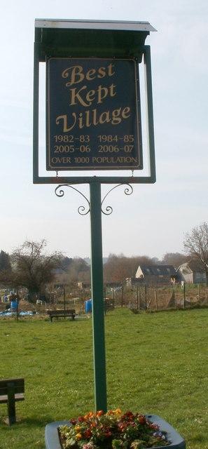 Best kept village sign, Bassaleg