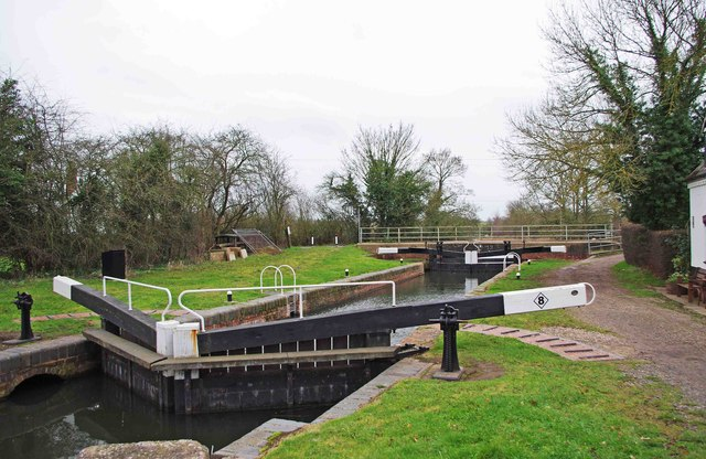 Droitwich Barge Canal Ladywood Lock (No.8 formerly 1)