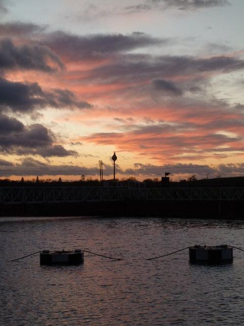 Sunset, Tewkesbury