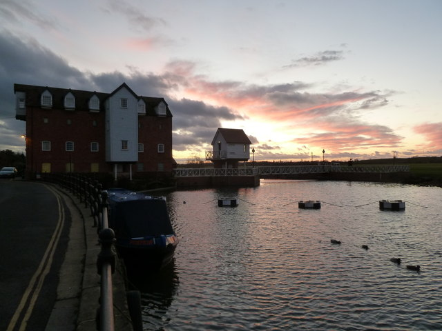 Sunset at Abbey Mill, Tewkesbury