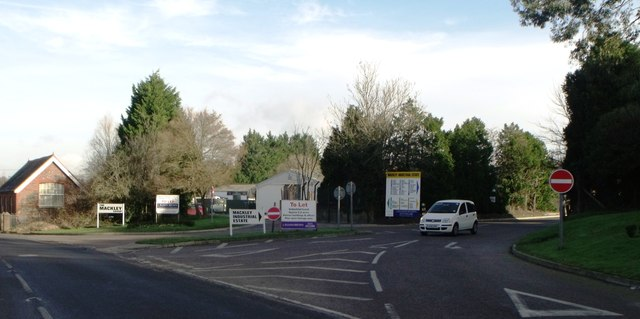 Access road to Mackley Industrial estate, Small Dole