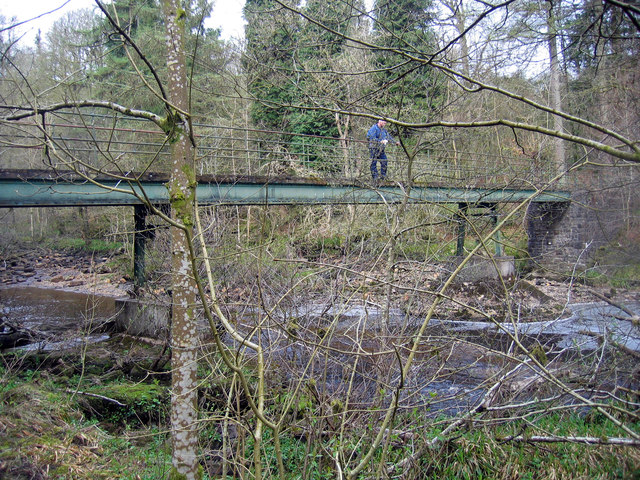 Footbridge over River Irthing
