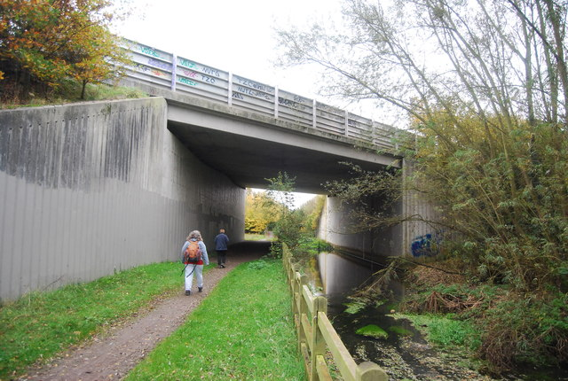Blackwater River, Blackwater Valley Path and Blackwater Valley Relief Road (A331)