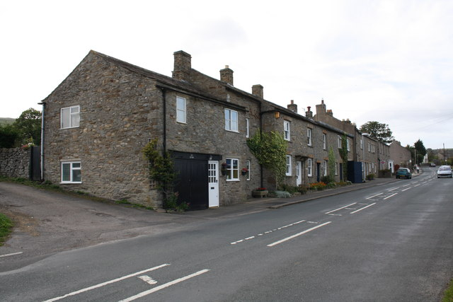 Houses on south side of A684
