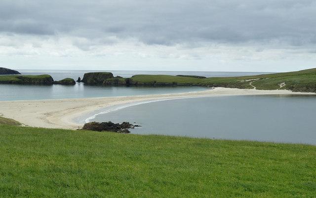 Tombolo and Hevda, St Ninian's Isle