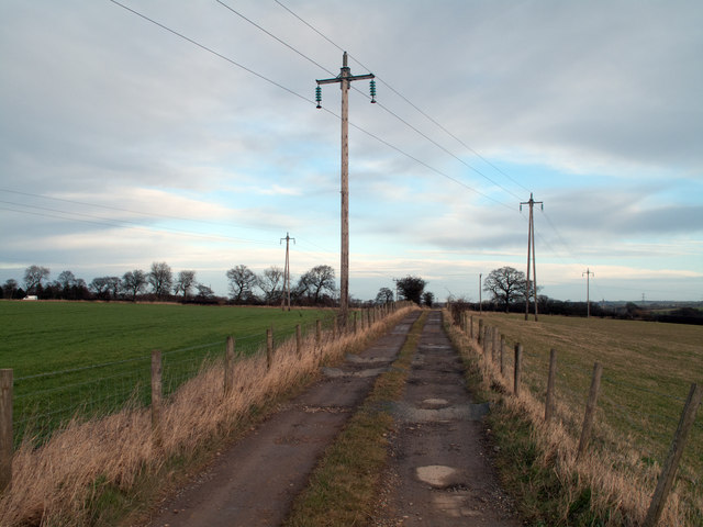 Byway with power lines