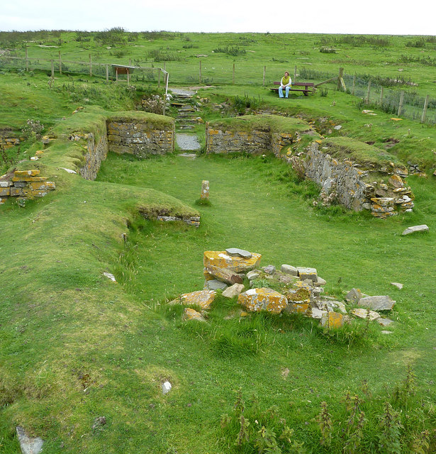 St Ninian's Church remains (3) from East