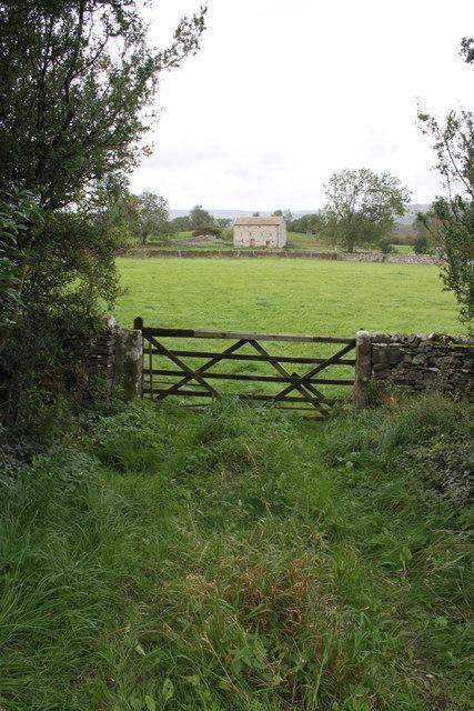 Gateway beside A684 southwest of Alma Farm