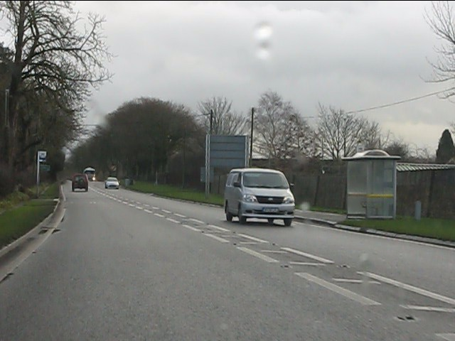 A537 east of the Chelford roundabout