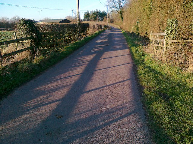 Access road to Foxwalks Farm