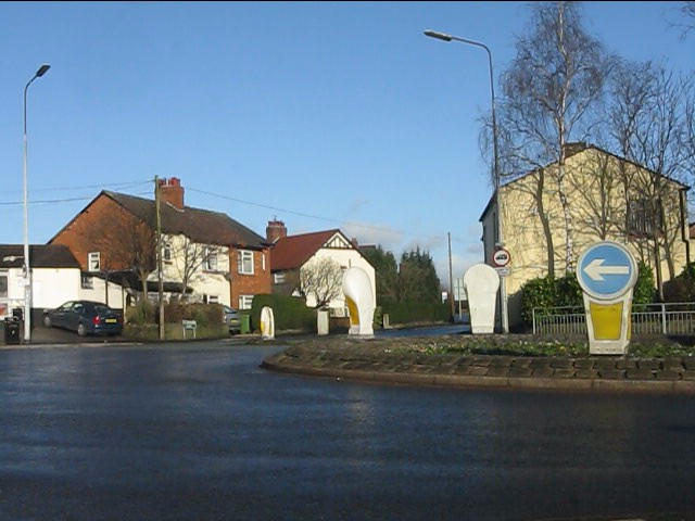 A537 roundabout from Gawsworth Road