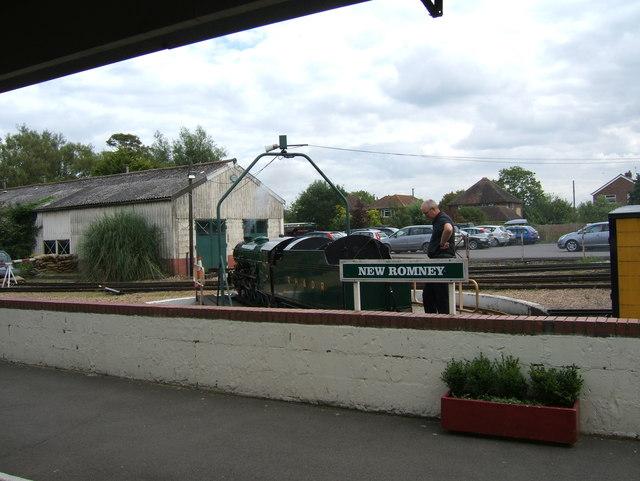 Locomotive on turntable