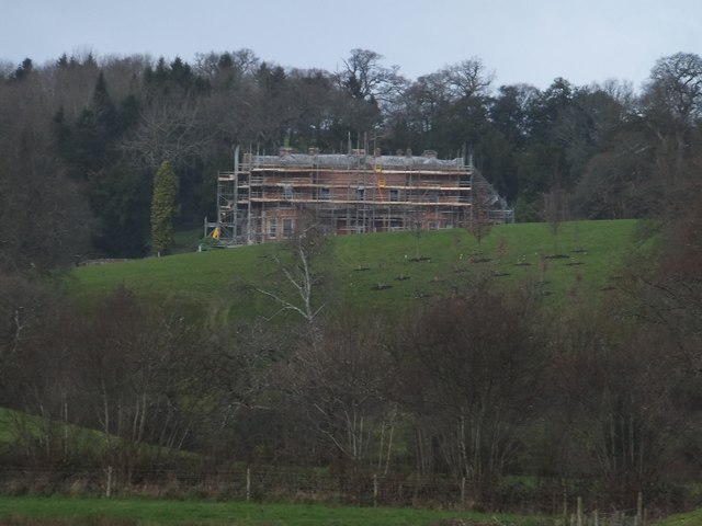 The south-east front of Hillersdon House
