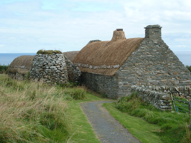 Shetland Crofthouse museum - croft, kiln and barn