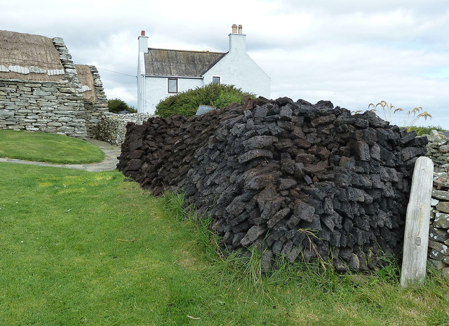 Peat stack at Shetland Crofthouse Museum