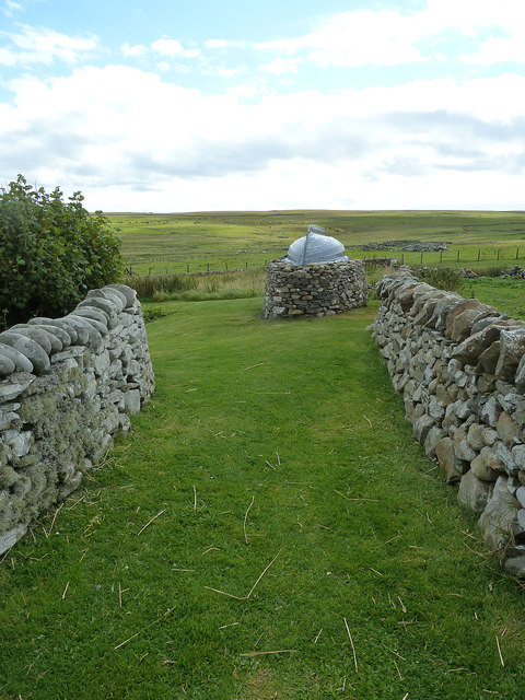 Garden and shed at Shetland Crofthouse Museum