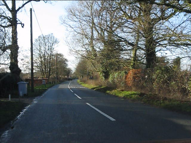 Salters Lane west of the crossroads