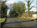 SJ7968 : Forty Acre Lane west of Rowley Hall by Peter Whatley