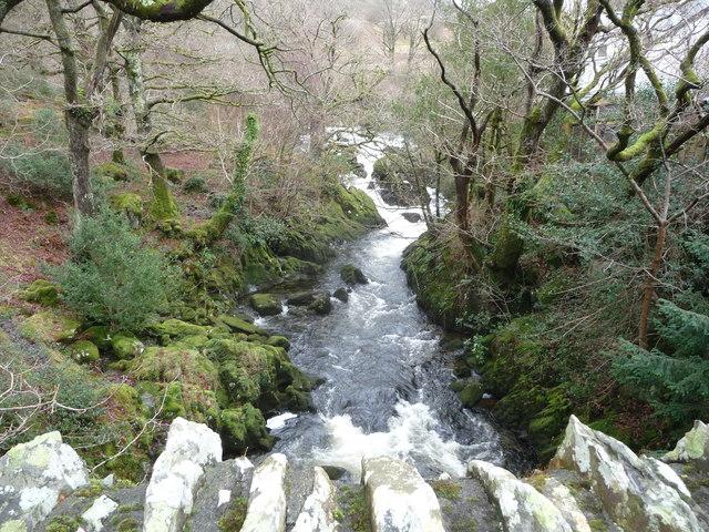 Part of the Afon Llugwy at Capel Curig