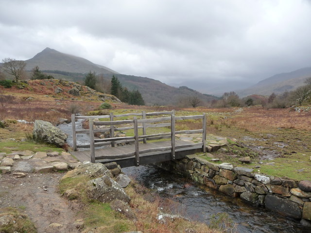 Footbridge over the Nant y Geuallt near Capel Curig