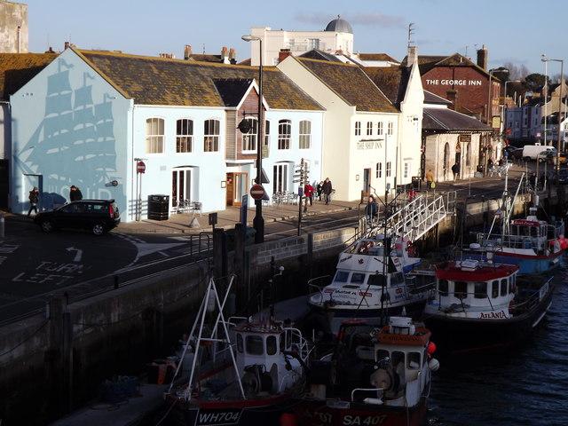 Custom House Quay from Town Bridge, Weymouth