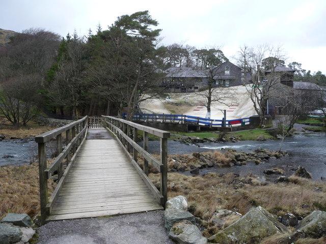 Footbridge near Plas y Brenin