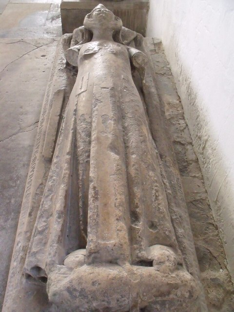 Effigy of Dame Joan de Staunton, St Mary's church