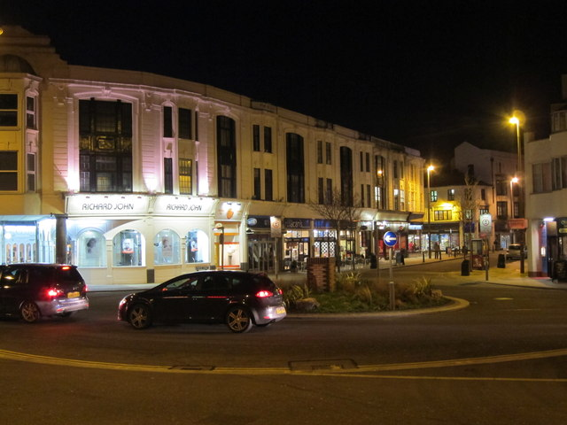 Marine Parade roundabout at night