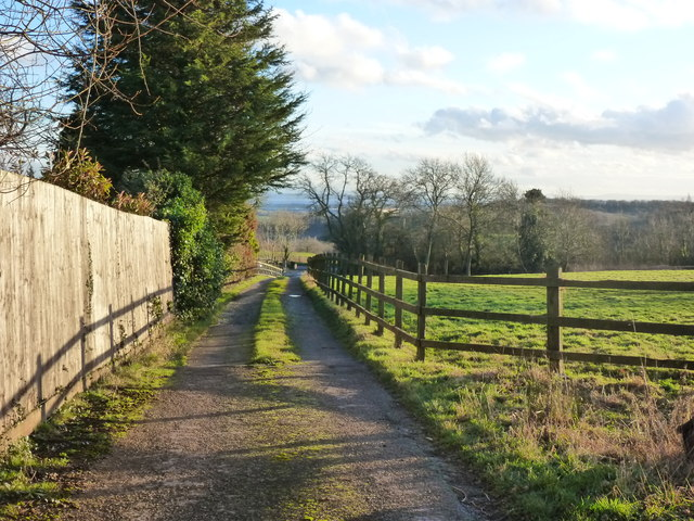 Lane at Mount Tudor, Catsash, near Newport