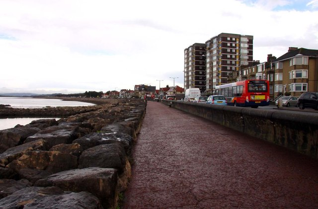 The promenade at Bare looking east