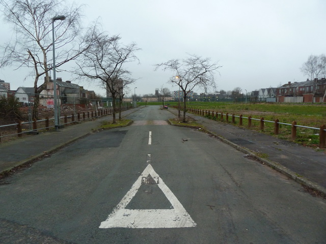 Wiltshire Street, a street with no houses, Salford