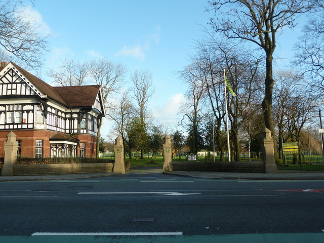 Entrance to Clarence Park, Bury