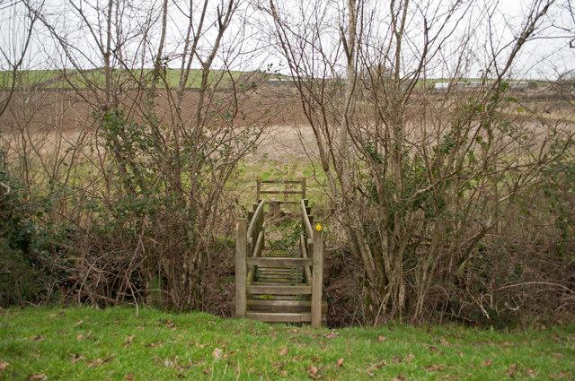 A footbridge over Coney Gut near Middle Dean Farm