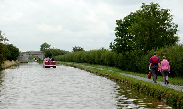 Shropshire Union Canal north-west of Audlem, Cheshire