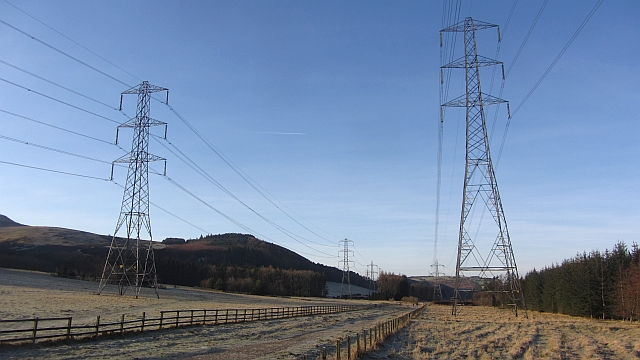Power lines, Dreghorn