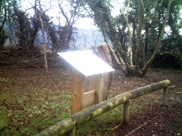 New Information Board, Old School Garden, Llanteg