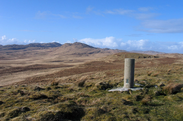Trig point of Cnoc an Lomair