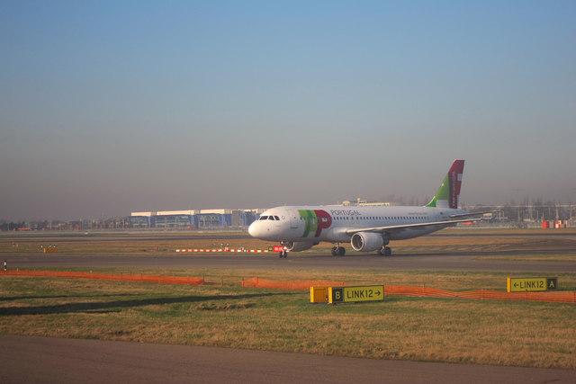 Plane at Heathrow Airport