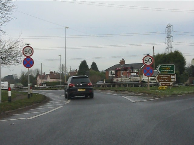 Heading west from Madeley Road roundabout
