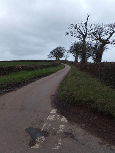 Minor road north of Halsewood Gate