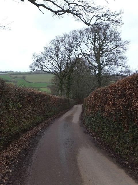Minor road south of Birchen Oak