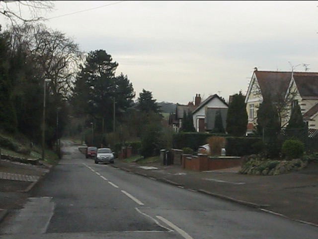 Greyhound Lane approaching the county boundary