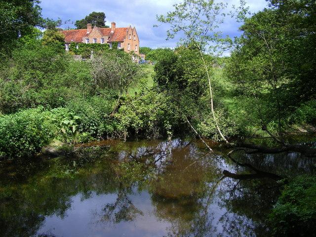 Roydon Manor House from the Lymington River