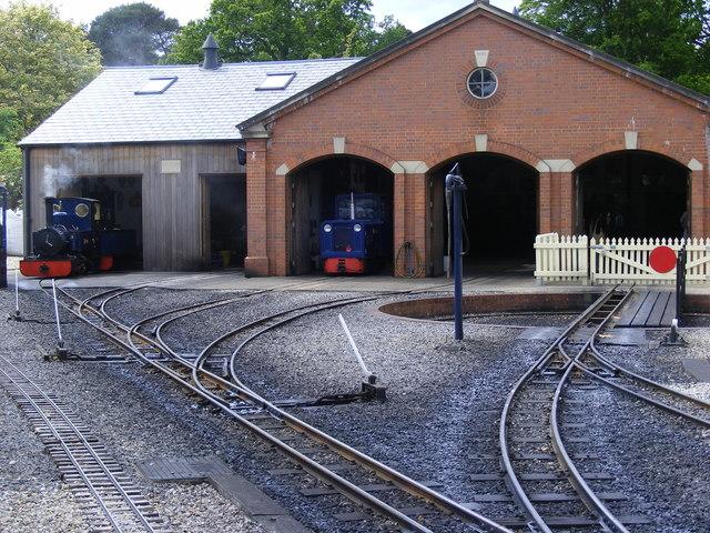 Exbury Gardens - the Engine Sheds