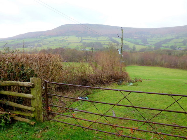 View over the upper Monnow valley