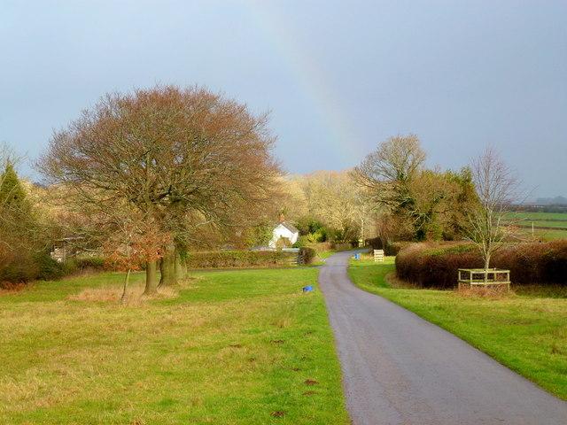Rainbow over Walterstone Common
