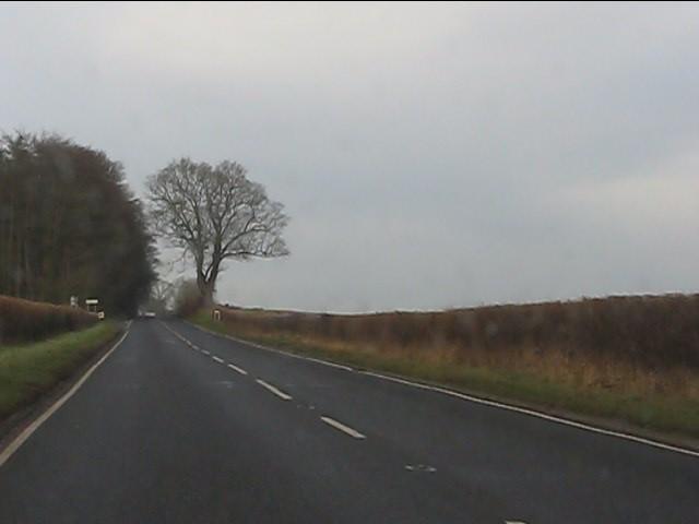 A458 approaching Burf Castle